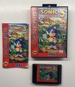 Sonic the Hedgehog 3 (Sega Genesis, 1994) COMPLETE! Read Description