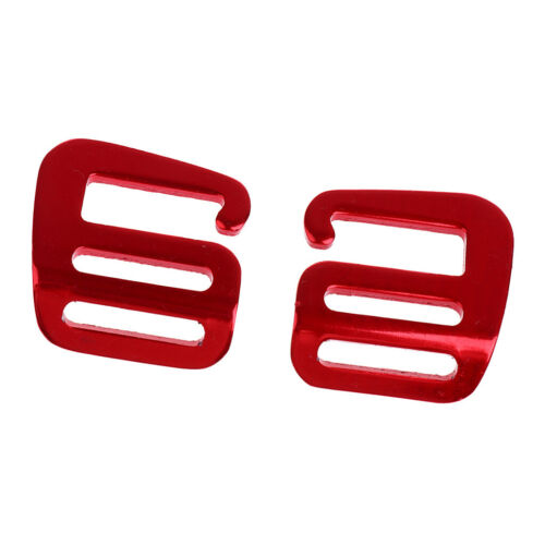 Aluminum Alloy Webbing Strap Buckles for 1inch Belts Fasten Belt Clips Red