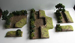 World War 2 Mandertory Miniatures resin 28mm Bocage gun Emplacement, Bolt Action