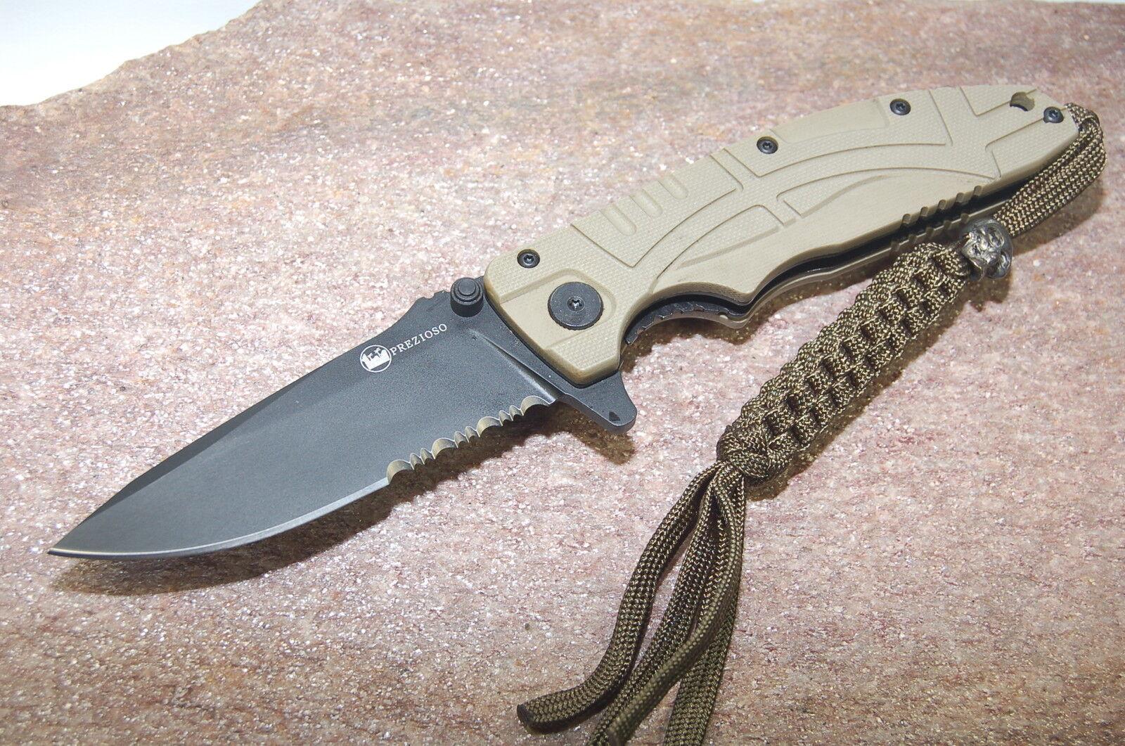 Coltellerie prezioso Ferus C Desert Black Black Black Couteau de poche escamotable couteau aus-8a g10 7e553d