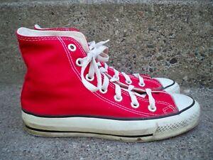 Vtg CONVERSE Chucks All Star Red High