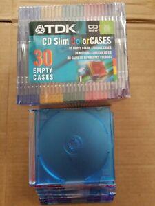 TDK-42-Pack-Slim-CD-Color-Cases-5-Colors-Sealed