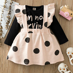 Baby-Girls-Princess-Outfits-Romper-Tops-Suspender-Skirt-Set-Toddler-2PCS-Clothes