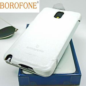 BOROFONE-General-Genuine-Real-Leather-Book-Case-For-SAMSUNG-GALAXY-NOTE-3-WHITE