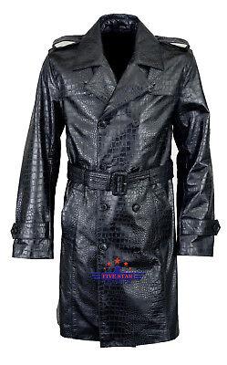 dd26d4218 Men Real Real Hide Leather Crocodile Alligator Embossed Jacket Coat | eBay