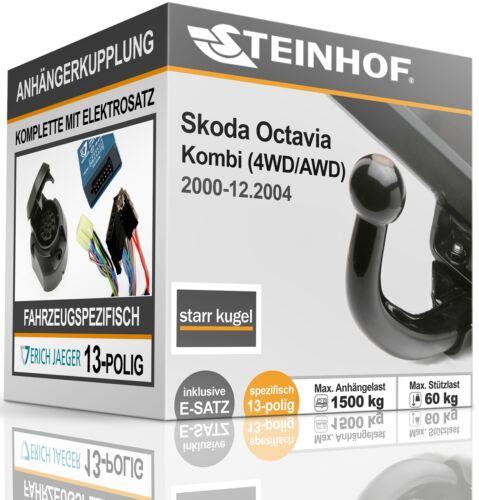 Anhängerkupplung starr Für Skoda OCTAVIA 4x4 Kombi 2000-2004+E-SATZ 13p SPEZ.
