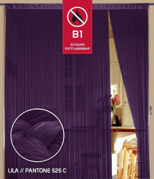 Filo sipario filo cancelli fiera b1 difficilmente infiammabili 150 CM x 500 cm (BxH) Viola K