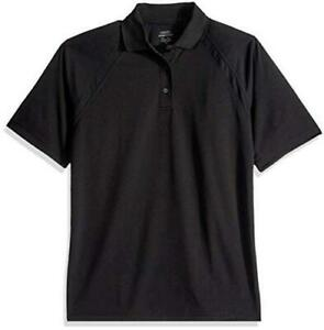 Ashe Xtream Men's Eperformance Ottoman Textured Polo, Black,, Black, Size Large