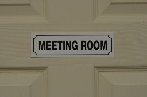Meeting Room Union Staff Employee Works Management Sign Sticker size 190x58