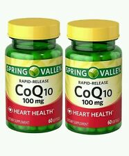 Spring Valley Coq10 Rapid Release Softgels 100 MG 60 Ct 2 PK