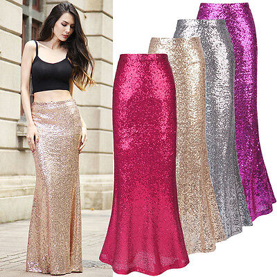 High Quality Women Sequin Bodycon Pencil Skirt Evening Party Club Short Skirt