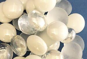 Lot-of-100-assorted-5-8-034-STONE-beads-craft-making-jewelry-rocks-SHINY-BULK-15mm