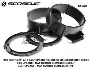 "SCOSCHE SAGMCM656 2005-2015 GM Vehicles 5.25"" - 6.75"" Front Speaker Adapter"