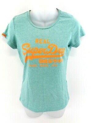 Superdry Womens T Shirt Top S Small Green Cotton & Polyester SorgfäLtige FäRbeprozesse