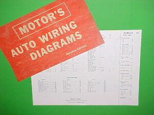 1963 1964 1965 1966 1967 Rambler American Classic Marlin Rebel Wiring Diagrams Ebay