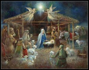 The Nativity 3 - Chart Counted Cross Stitch Pattern Needlework Xstitch craft DIY