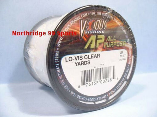 VICIOUS Copolymer 25# 485 yds  FISHING LINE AP NEW Clear