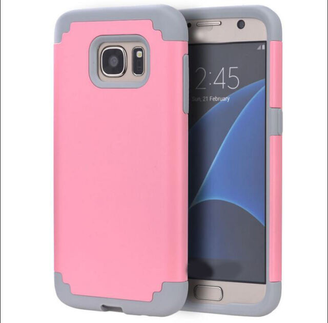 New Hybrid Shockproof Rubber Slim Hard Case Cover For Samsung Galaxy S7 S7edge