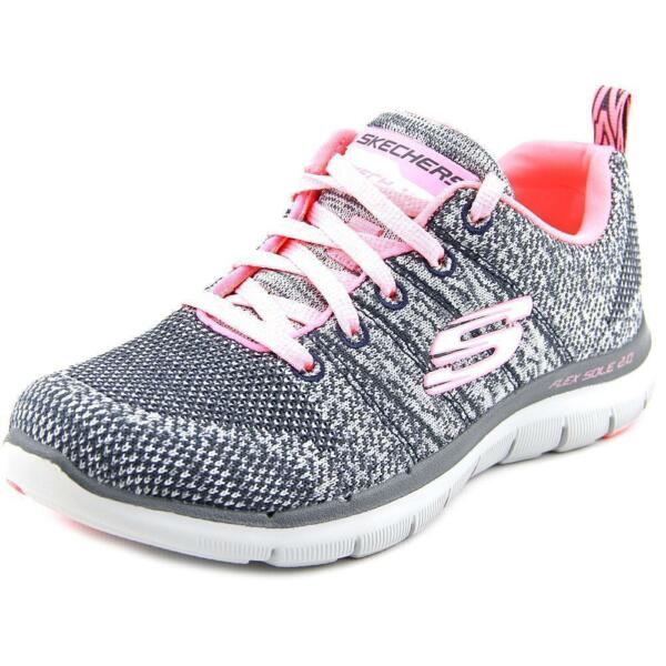 099fd2ed6490 Skechers Flex Appeal 2.0 High Energy Ladies Womens Comfy Trainers  Charcoal coral US 7