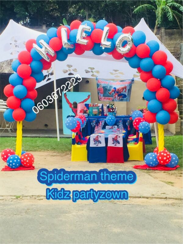 Spiderman Themed Party Decor For Hire Durban North Gumtree