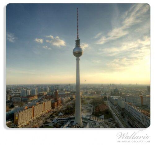Herdabdeckplatte 1-teilig aus Glas Fernsehturm Berlin Panoramablick 60x52cm