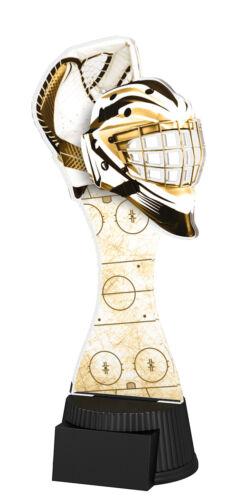 190 mm 3 Tailles Gravure Gratuite Hockey sur glace Gardien de but gardien Exclusive Trophée Acrylique