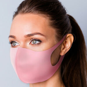 Breathable Cotton Pink Face Mask Unisex Reusable Cycling Washable Protection Uk Ebay