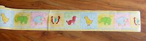 Wandborduere-selbstklebend-Kinderzimmer-suesse-Tiere-10-5-cm-breit-10-m