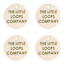 Cream Personalised Faux Leather Tags Circle Round 25mm Product tags custom