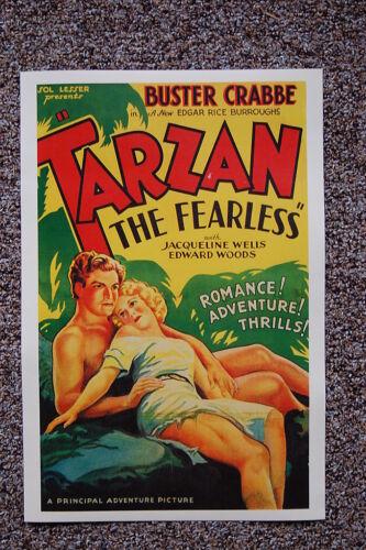 Tarzan the Fearless #1 Lobby Card Movie Poster