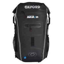 Oxford Aqua B25 Moto tous les temps Arrière Pack de 25 Litres Noir/Gris