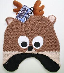 Adult deer earflap hat