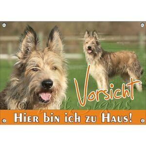 Bouclier de chien - Berger De Picardie Panneau d'avertissement de haute qualité en métal