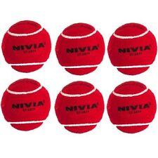 Nivia Red Heavy Cricket Hard Tennis Balls (Pack of 6)