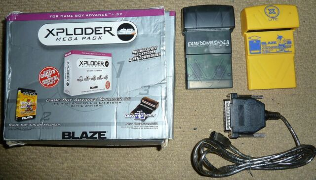 NINTENDO GAMEBOY XPLODER LITE CHEAT CARTRIDGE CART + GAME DOWNLOADER DATA CABLE