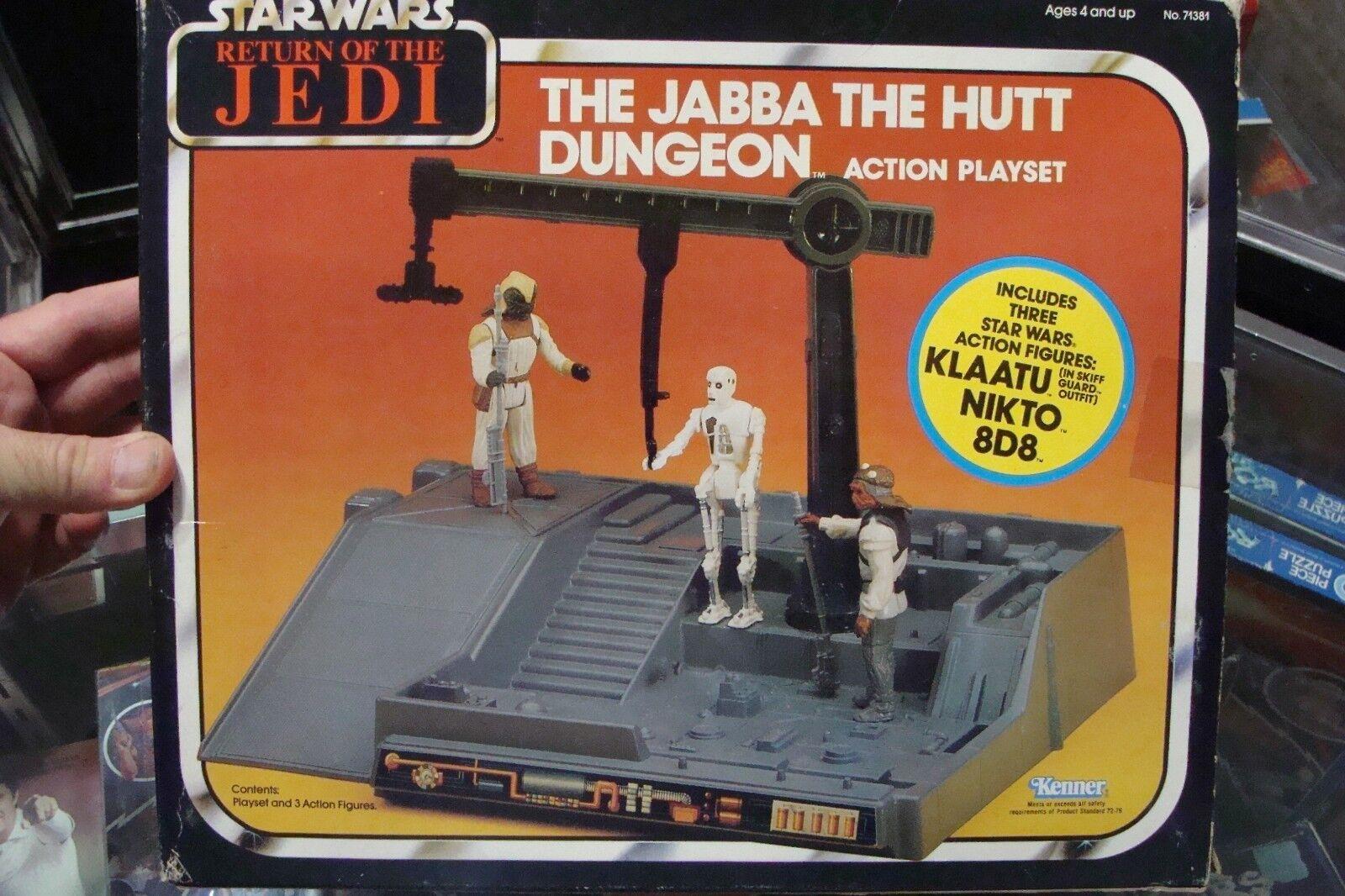 Star Wars THE JABBA THE HUTT DUNGEON Action PLAYSET Kenner 1983 HIGH GRADE jedi