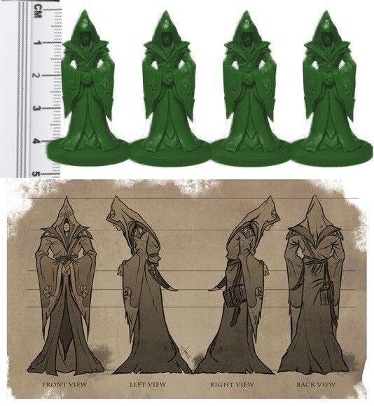 D&d rpg fantasy miniatures non peinte peinte peinte CULTISTE miniatures X 60 Couleurs Mélangées 122f49