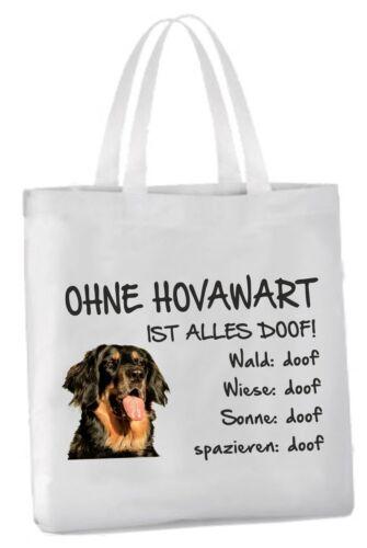 """Einkaufstasche /""""Ohne Hovawart ist alles doof!/"""" Hund Beutel Tragetasche Bag"""