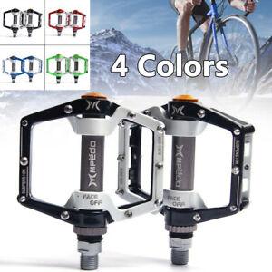 Aluminum Road MTB Bike Bicycle Bearings Cycling Pedals flat Pedal black 1 pair