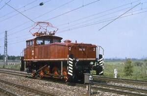 Elektro-Lok-Dia · E60 10 (160) · DB · Bhf. Neufahrn · 1985