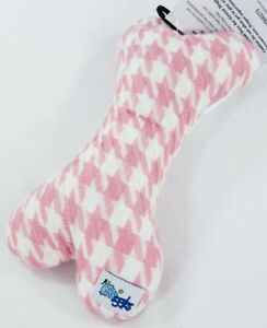 Houndstooth-Bone-squeaker-dog-toy-toys-puppy-puppies-Free-Shipping-B50