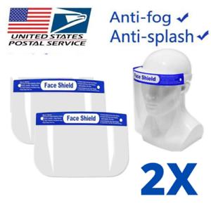 6 Pcs Safety Full REUSABLE Face Shield Guard mask Head Band Elastic USA Seller