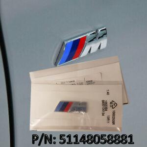 New-Genuine-Original-OEM-BMW-M-Sport-Chrome-cote-aile-embleme-badge-Allemagne-Made