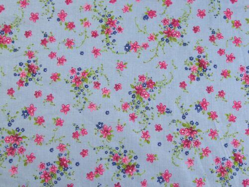 EM-floralcot 6319-Sky-M Impresión Floral vestido de algodón tejido