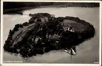 Insel Mainau im Bodensee alte Postkarte ~50er Jahre Gesamtansicht mit Schloss