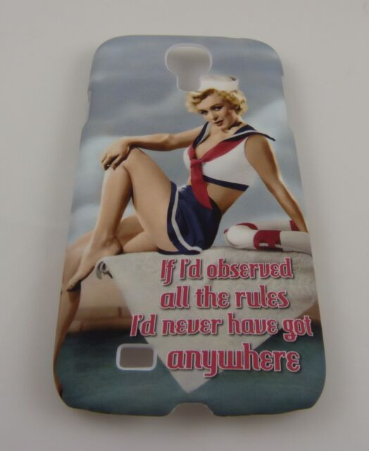 fits Samsung Galaxy S 4 phone case back cover Marilyn Monroe salior outfit