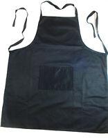 12 X Kitchen Apron Aprons 100% Cotton Washable Black Wholesale Bulk Lot