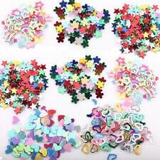 5000Pc Plastic Glitter Heart Star Flower Sequins Stickers Decals Nail Art DIY