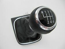 Genuine OEM VW Black Leather 4 Motion Shift Knob Mk5 Mk6 Golf Jetta GTI 6 Speed