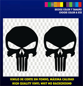 2-X-Stickers-Vinilo-Pegatinas-THE-PUNISHER-Vinyl-Adhesivi-Aufkleber